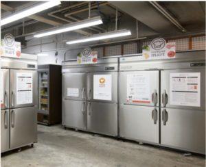 JAの施設内の「クックパッドマート」専用の共同集荷所