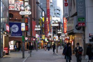 緊急事態宣言下の渋谷の様子