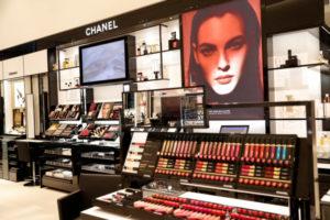 ニューヨークのシャネル化粧品売り場