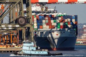 ニュージャージー州ニューアークの港