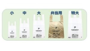 セブンイレブンの有料レジ袋5種