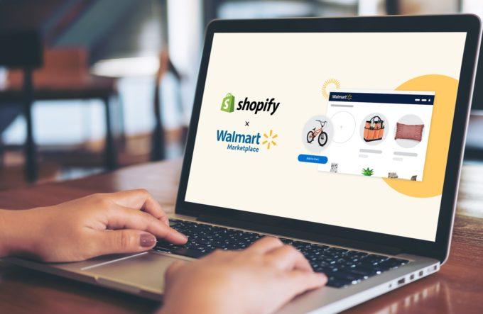 ウォルマートとショッピファイの連携したサイト