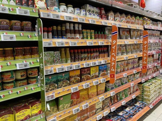 ヨーカドー食品館を「ヨークフーズ新宿富久店」としてリニューアルした調味料売場
