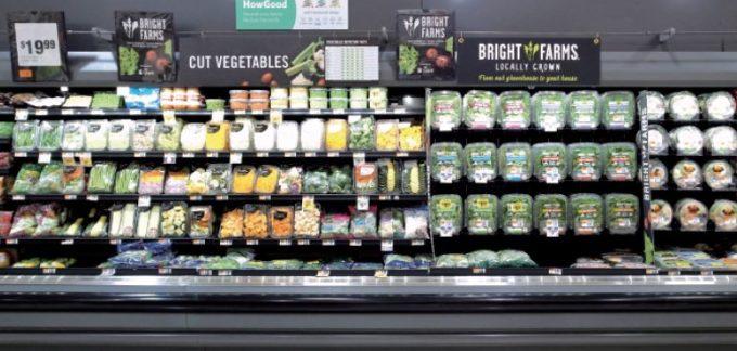 アメリカのスーパーマーケットチェーンの青果売り場