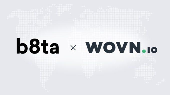 体験型店舗のb8ta、 Webサイト多言語化ソリューション「WOVN.io」のロゴ