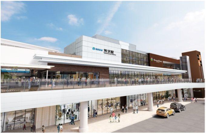 駅直結の商業施設「グランエミオ所沢」(埼玉県所沢市)の完成イメージ図