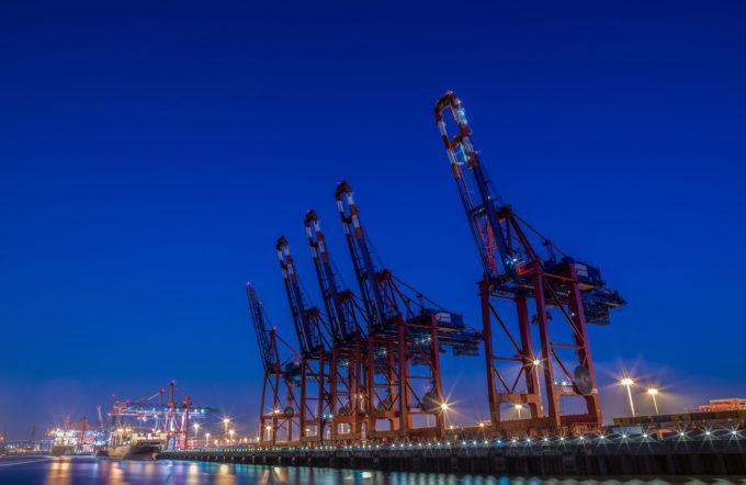 ハンブルクの貿易港