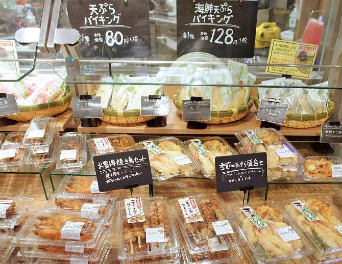 阪急オアシスの温総菜のバラ売りコーナー