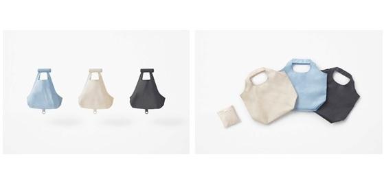 ローソンで発売した、デザインオフィス「nendo」がデザインしたエコバッグ2種類