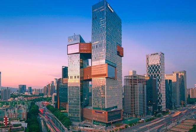 中国・深圳にあるテンセント本社ビル