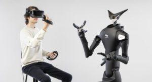 テレイグジスタンス社製ロボット「Model-T」を遠隔操作している様子