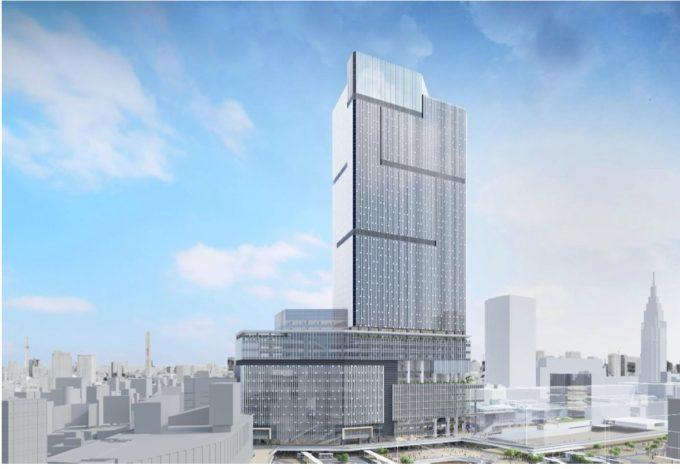 小田急電鉄と東京地下鉄が再開発を進める新宿駅西口の高層ビル