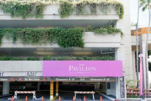 「サウスコーストプラザ」の「ザ・パビリオン」の入り口(駐車場の入り口)