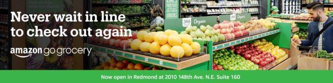 米アマゾン、レジなし小型スーパー「ゴー・グロサリ」のイメージ
