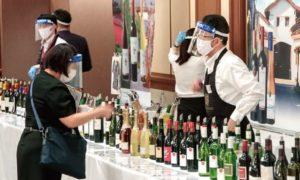 コロナウイルス感染拡大に万全の配慮を施して行われた国分の輸入洋酒展示会