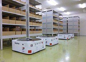 モノタロウの新物流センターで使用される無人搬送ロボット
