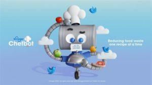 米クローガー、AIチャットボットでおすすめレシピを紹介する画面