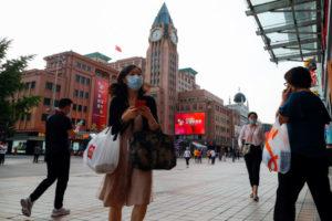 北京の百貨店前