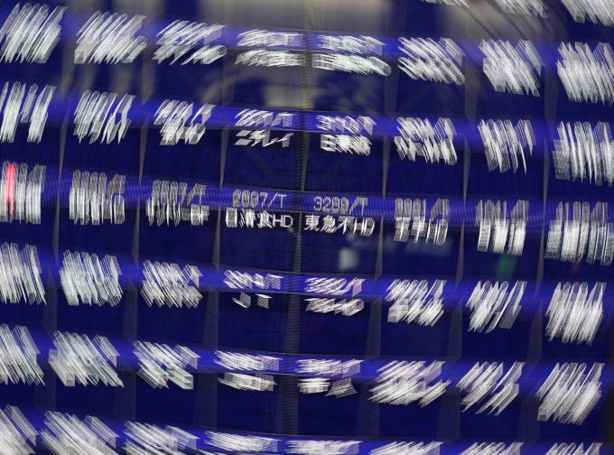 東京証券取引所に上場されている銘柄の株価ボード
