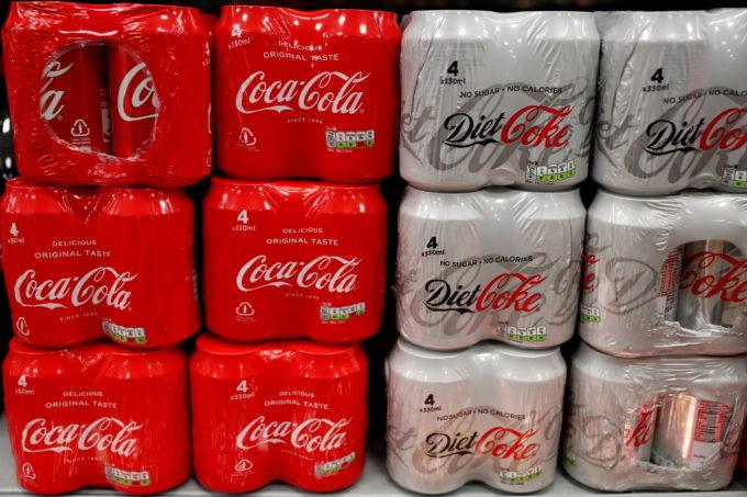 陳列されているコカ・コーラ