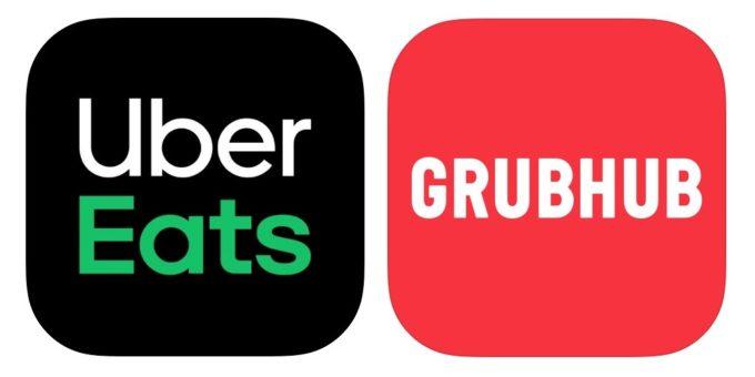 ウーバーイーツとグラブハブのロゴ