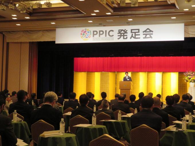 発足同日に都内ホテル開催されたPPIC発足式には、生産者約100人や農林水産省関係者らが集結した
