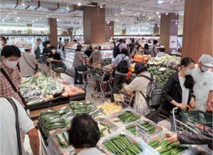 食品スーパーの店内の様子