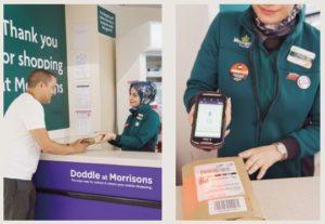 英国・スーパーマーケットモリソンズでのドドル社の「Click &Collectシステム」のサービス提供のイメージ