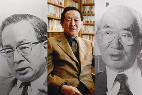 左から、西川俊男さん、堤清二さん、中内㓛さん
