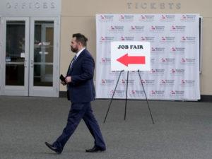 米ユタ州で行われた就職フェア会場