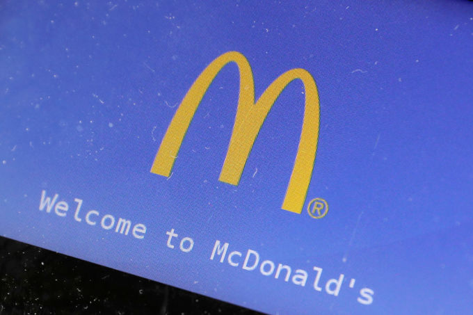 米マクドナルドのロゴ