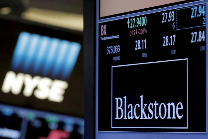 ブラックストーンのロゴと株価
