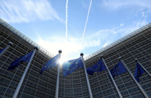 ブリュッセルの欧州連合(EU)本部前