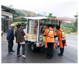 岩手県の「イトーヨーカドー花巻店」を拠点とする移動スーパー