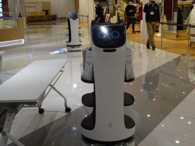 イオンモール上尾で導入した案内ロボット