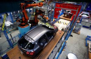 ドイツの車製造工場