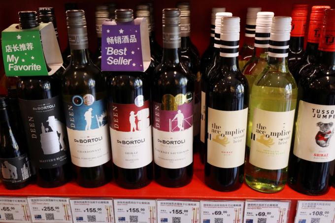 北京の店に並ぶオーストラリアワイン