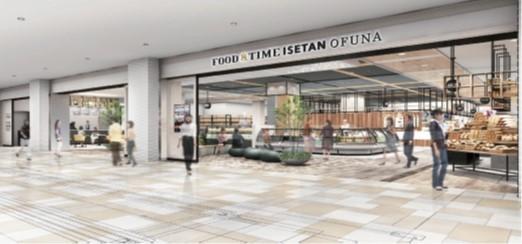 三越伊勢丹HDがJR大船駅北口に開業する大型商業施設「GRAND SHIP」内にオープンさせる「FOOD&TIME ISETAN OFUNA」の完成イメージ