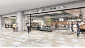 三越伊勢丹HDがJR大船駅北口に開業する大型商業施設「GRAND SHIP」内にオープンする「FOOD&TIME ISETAN OFUNA」の完成イメージ(アイキャッチ)