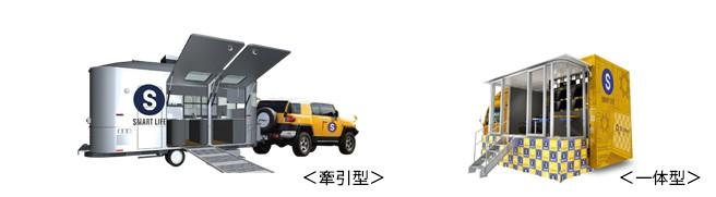 ピーシーデポが開発に着手する車両型店舗のイメージ