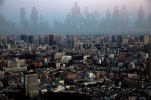 上空から見た渋谷と人々