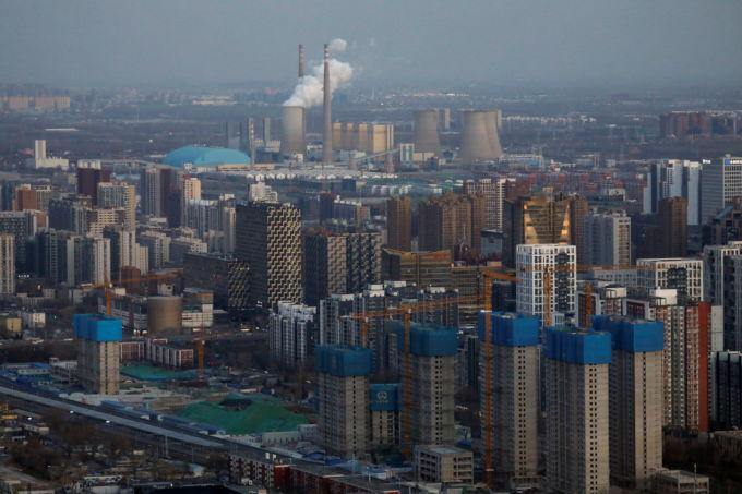 北京の上空