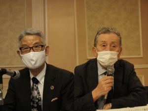 JACDS 池野隆光会長(左)と根津孝一副会長(右)