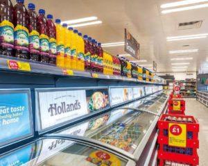 西欧の冷凍食品売場