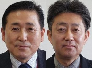 イオン北海道 執行役員商品本部食品商品部長の渡辺昌弘氏(左)、商品本部食品商品開発部長の白戸正樹氏(右)