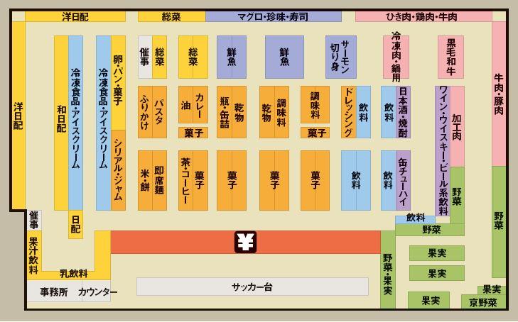 ロピア鶴見島忠ホームズ店の売場レイアウト図