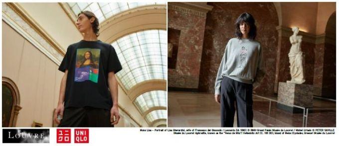 ユニクロとルーブル美術館がコラボしたTシャツ