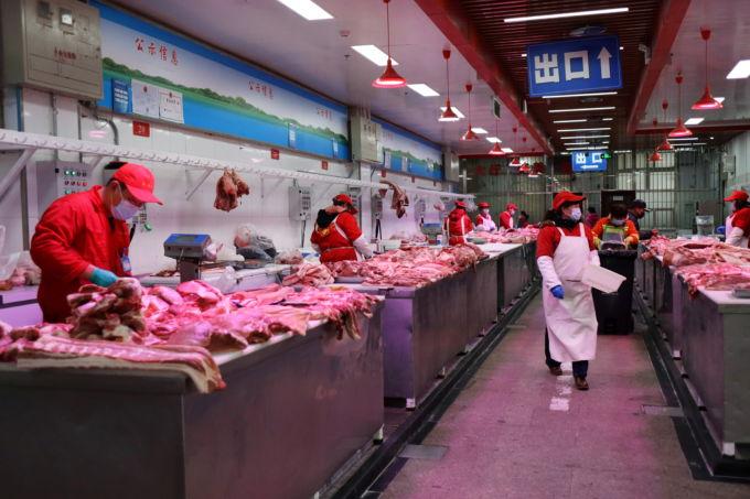 北京の卸売市場