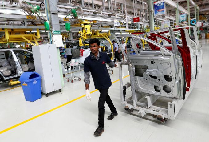 インドにあるマヒンドラの工場
