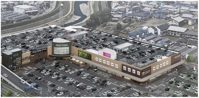 「イオンレイクタウン茨木太田」を含む施設の完成イメージ図